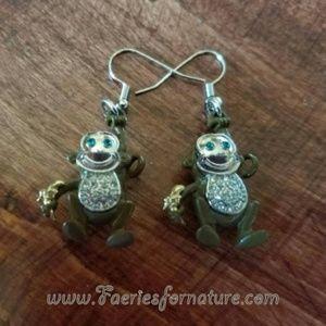 Jewelry - Silver Monkey Earrings/Monkey Jewelry